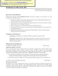 Best Resume For Nurses by General Nurse Resume Example Intensive Care Nurse Resume Sample