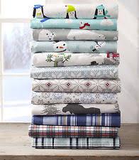 snowflake flannel sheets ebay