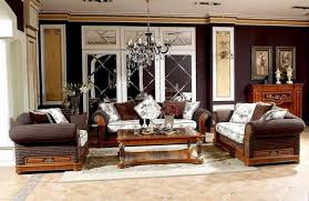 Neoclassic Home Furniture Sofa Fabric Living Room Wooden - Classic home furniture