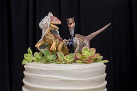 dinosaur wedding cake topper my big wedding nerdy cake toppers 6 nerdy