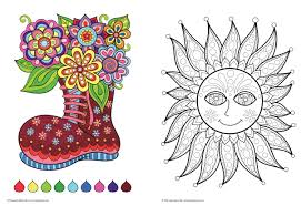 fun u0026 funky coloring book treasury designs to energize and