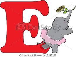 e stock illustration of alphabet e sunflower isolated on white