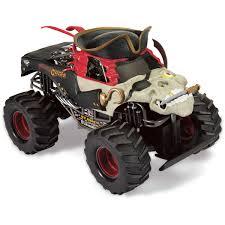 monster jam toy trucks monster jam pirate u0027s curse remote control truck 1 14 big w