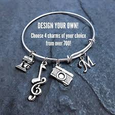 personalized bangle bracelet custom design your own charm bracelet expandable