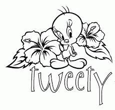 baby tweety bird coloring pages coloringstar printable animal free