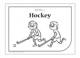 hockey colouring picture ichild