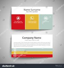 modern simple business card template vector stock vector 258291173