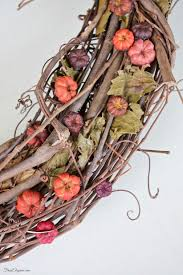 fall grapevine wreath frugelegance