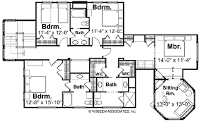 100 visbeen floor plans home plan homepw77725 4983 square