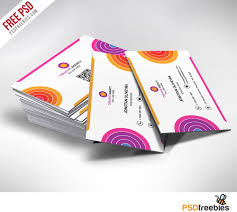 creative and colorful business card free psd psdfreebies com