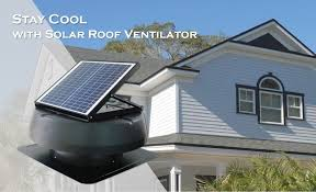 12 watt dwelling home use solar air conditioning attic exhaust