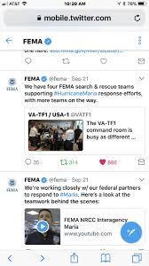 fema on twitter