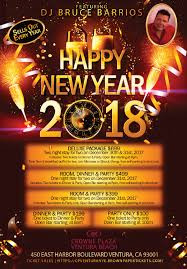 where to party for new years new year s 2018 crowne plaza ventura