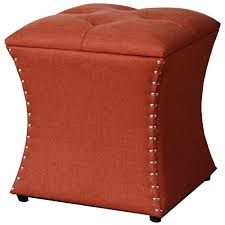 Nailhead Storage Ottoman Amelia Nailhead Storage Ottoman Persimmon Unique Furniture