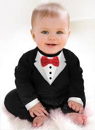 best quality newborn boy baby formal suit tuxedo romper