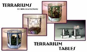 stained glass terrarium tables