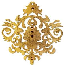 sizzix sizzlits die baroque ornament by scrappy cat