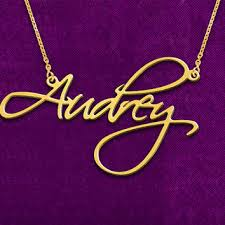 Custom Name Necklaces Best Script Name Necklace Products On Wanelo