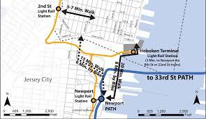 hudson bergen light rail map city of hoboken nj nj transit to cross honor path tickets on