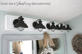 Chic On A Shoestring Decorating How To Build A Bathroom Light Fixture Cheap Bathroom Light Fixtures
