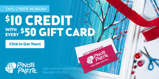 gift card specials cyber monday paint and wine gift certificate offer pinot s palette