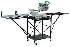 universal table saw stand with wheels rousseau 2875 miter saw stand amazon com