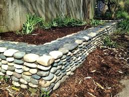 Bush Rock Garden Edging Rock Garden Edging River Rock Garden River Rock Garden Edging