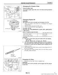 nissan maxima oil change nissan maxima 1994 a32 4 g maintenance workshop manual
