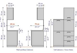 Standard Size Of Kitchen Cabinets Awesome Standard Kitchen Cabinet Size Guide Base Wall Sizes