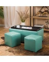 tis the season for savings on ava turquoise storage ottoman