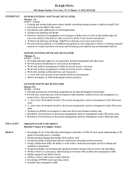 software developer resume systems software developer resume sles velvet