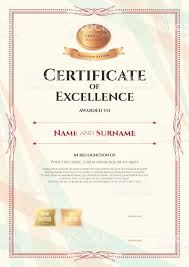 Free Certificate Of Excellence Template Certificate Of Excellence Template Award For Excellence With