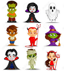 vector illustration of halloween monster costume royalty free