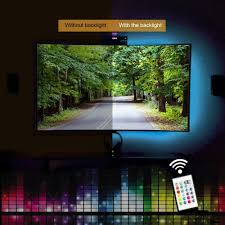 home theater backlighting kohree 2 rgb multi color led light strip bias lighting hdtv usb