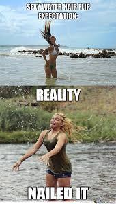 Flips Hair Meme - sexy water hair flip by themrg meme center