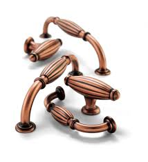 Copper Drawer Pulls Angular Copper Handle Drawer Pull Handle - Copper kitchen cabinet hardware