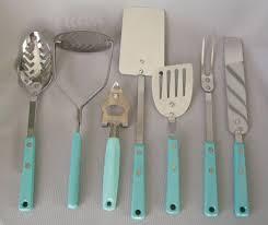 7 vintage ekco aqua turquoise vintage kitchen tools utensils