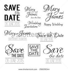 Save The Date Wedding Invitations Save Date Logos Set Wedding Invitation Stock Vektor 298299344