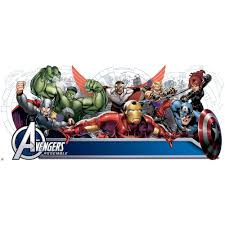 avengers assemble personalization headboard peel and stick wall