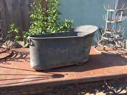 Antique Galvanized Bathtub Antique French Zinc Baby Bathtub Ebay