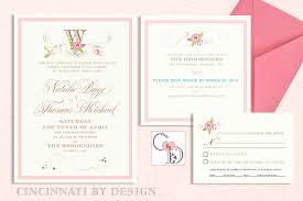 monogram wedding invitations monogram wedding invitation cincinnati by design