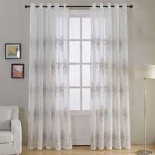 popular embroidered sheer curtain buy cheap embroidered sheer