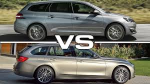peugeot 308 touring 2018 peugeot 308 sw vs 2016 bmw 3 series touring youtube