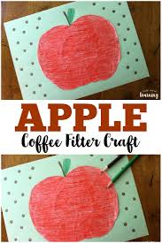coffee filter crafts for kids coffee filter apple craft look