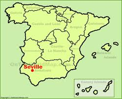 Map Of Seville Spain by Seville Location On The Spain Map