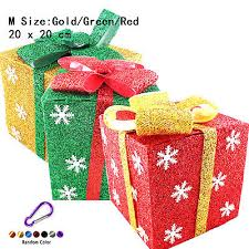 indoor lighted gift boxes three lighted gift boxes christmas holiday indoor outdoor 150