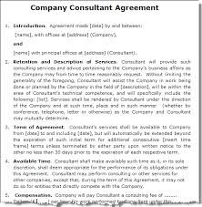 consulting agreement template companyconsultantsample gif