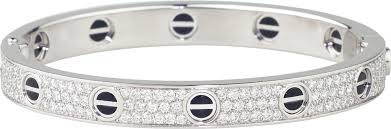 cartier love bracelet with diamonds images Crn6032417 love bracelet diamond paved ceramic white gold png