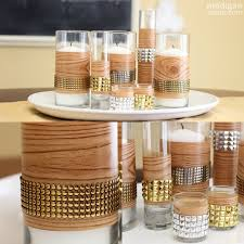 DIY Studded Faux Bois Fall Centerpiece Rosyscription