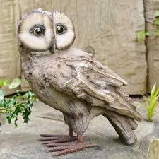 owl garden sculpture bird garden ornaments uk candle and blue